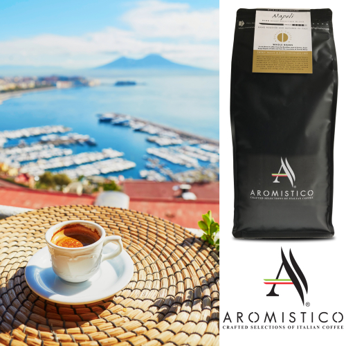 AROMISTICO PREMIUM ROASTED WHOLE COFFEE BEANS NAPOLI BLEND