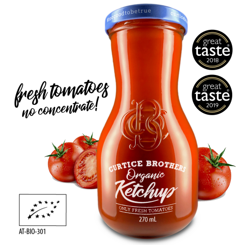 Curtice Brothers Double Award Winning Organic Ketchup 6 pack
