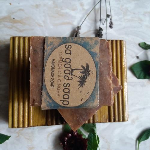 HANDMADE TURMERIC & GINGER SOAP Available In 120g