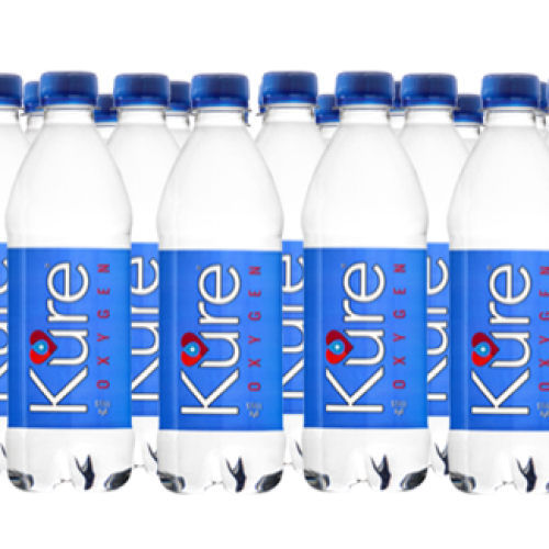 Kure OXYGEN Spring Water, Oxygen BOOST. 1 CASE OF 24 Bottles. 500ML. An Everyday drinking water for Optimum Health & Wellbeing