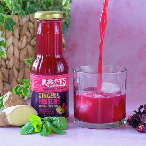 Ginger & Hibiscus juice drink