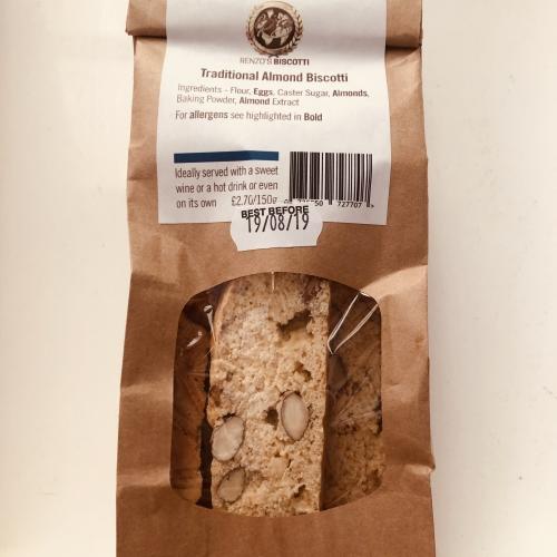 Traditonal almond biscotti