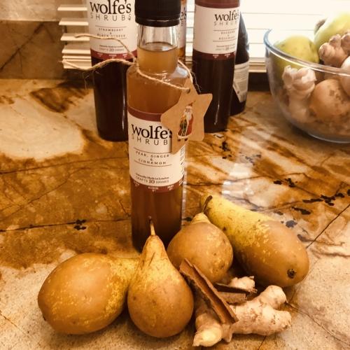 *Winter Special!*  Wolfes Pear, Ginger & Cinnamon Shrub, 250ml