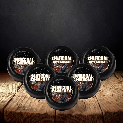 Charcoal Cheddar Truckle 6-Pack (1200g)