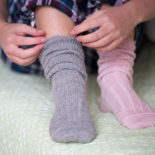 90% Alpaca Luxury Bed Socks 8-10 Grey