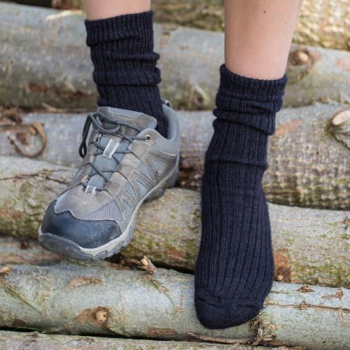 Alpaca Walking Socks Black 8-10