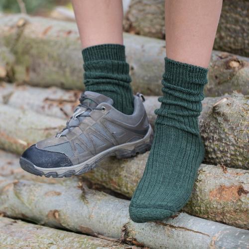Alpaca Walking Socks D Green 4-7