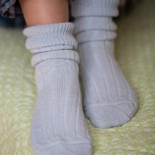 90% Alpaca Luxury Bed Socks 8-10 Blue