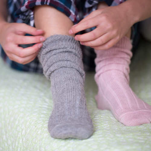 90% Alpaca Luxury Bed Socks 4-7 Grey