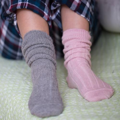90% Alpaca Luxury Bed Socks 8-10 Pink