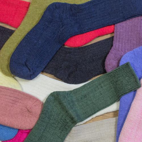 Alpaca Walking socks Brick 8-10