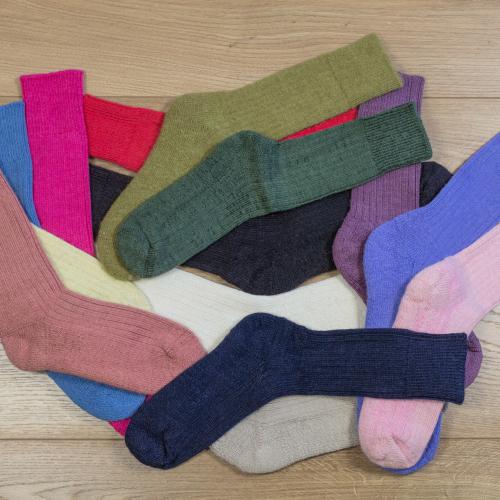 Alpaca Walking socks Brick 4-7