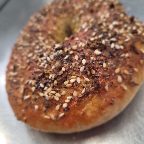 Sourdough Bagels with seedy topping (6 per bag)