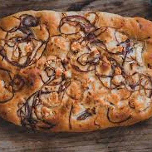 BAKER TOM Focaccia goats cheese & red onion
