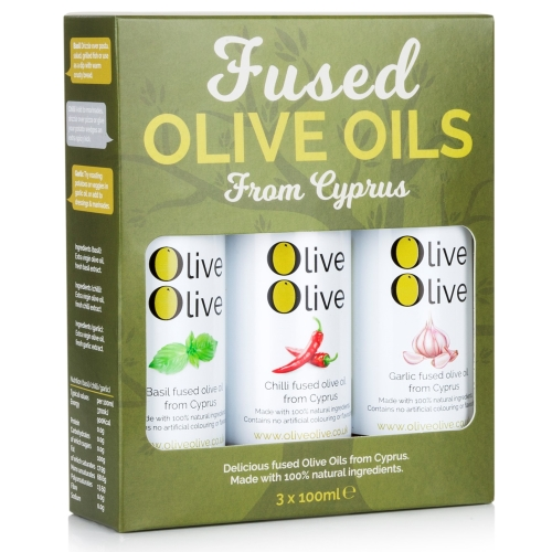 Basil, Chilli & Garlic Fused Olive Oil 3 x 100ml Gift Pack