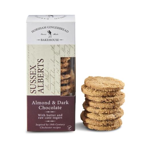 ALMOND & DARK CHOCOLATE SUSSEX ALBERT BISCUITS – BOX OF 4 PACKS (GLUTEN FREE)