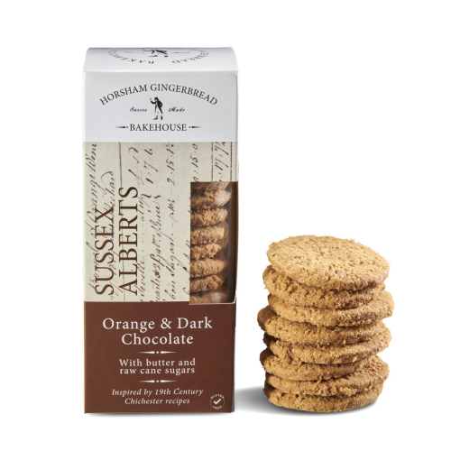 4 ORANGE & DARK CHOCOLATE SUSSEX ALBERTS BISCUITS