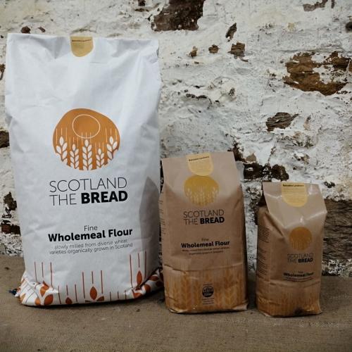 Wholemeal organic wheat flour: Balcaskie Landrace