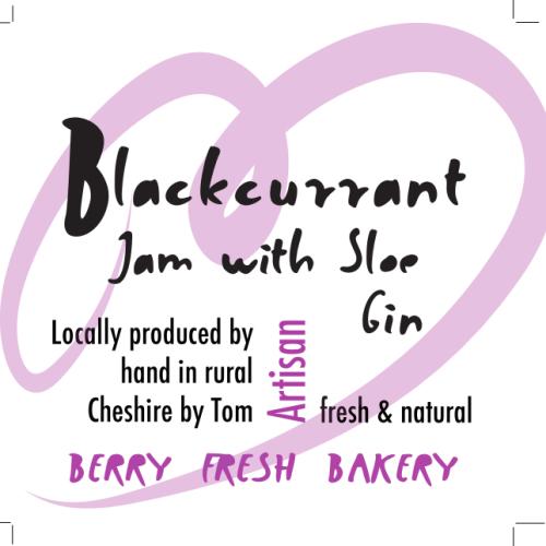 Blackcurrant Jam with Sloe Gin