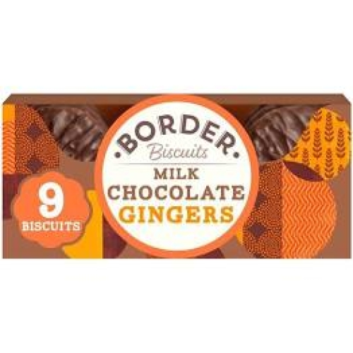 Border Biscuits Milk Chocolate Gingers