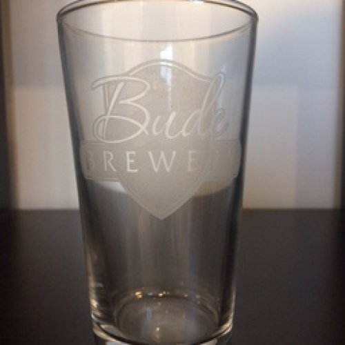 BUDE BREWERY HALF PINT GLASS