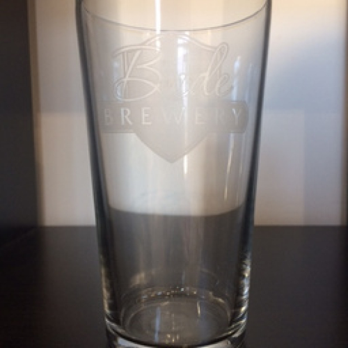 BUDE BREWERY PINT GLASS