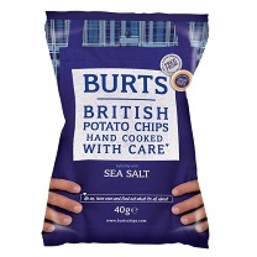 Burts hand cooked crisps - sea salt /w