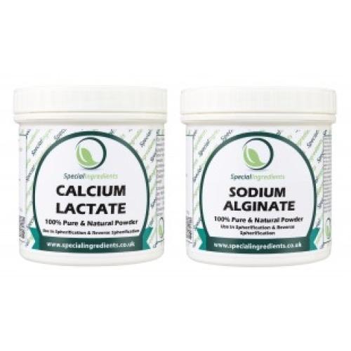 Special Ingredients Calcium Lactate 50g & Sodium Alginate 50g