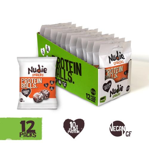 Choccy Orange & Peanut Butter Vegan Protein Balls - 12 x 42g