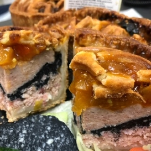 Charcoal Ploughman's Pork Pie