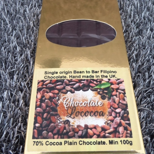 Chocolate Lococoa 70% Plain Dark Chocolate Bar 100g