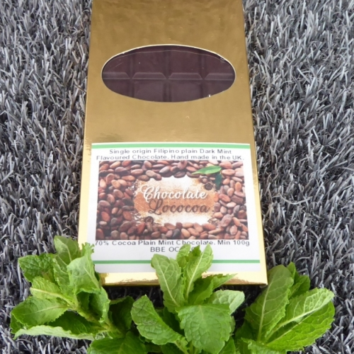 Chocolate Lococoa 60% Dark Mint Chocolate Bar 100g