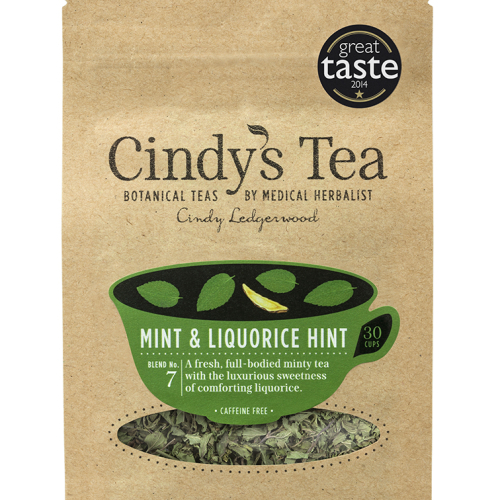 Mint and Liquorice Herbal Tea - Stress and tummies