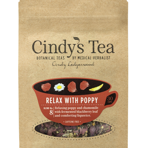 Relax with Poppy Herbal Tea - reduce stress & anxiety