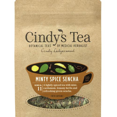 Minty Spiced Sencha - Green Tea (herbal tea)