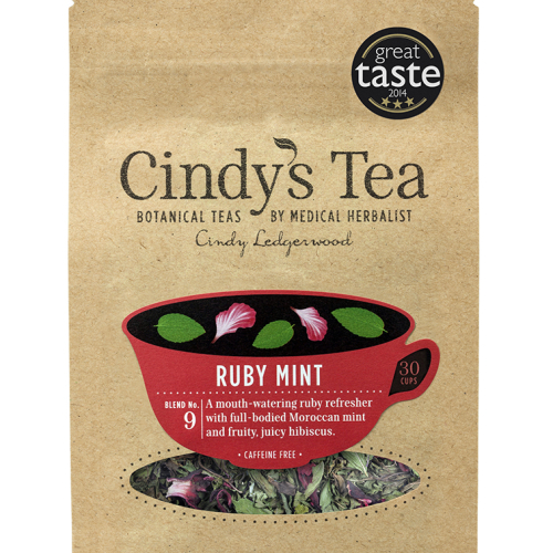 Ruby Mint Herbal Tea - reviving and endurance