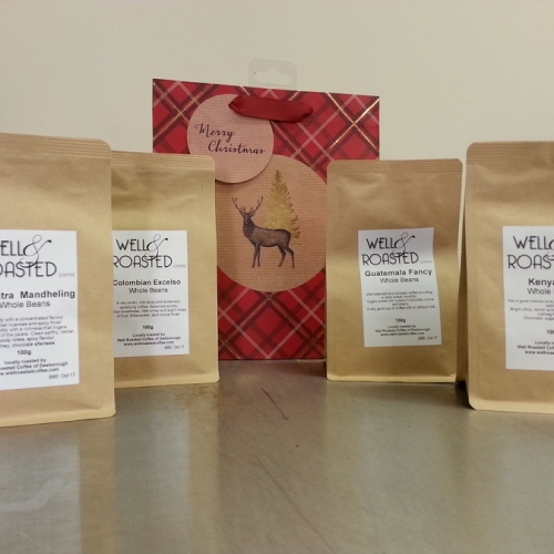 Coffee Taster Gift Pack _ 4 x 100g Bags of Ground Coffee