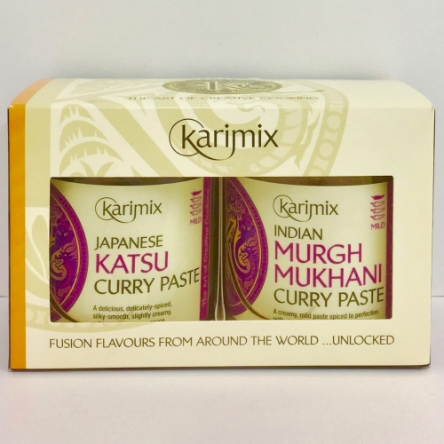 Karimix Japanese Katsu and Indian Murgh Mukhani Curry Paste Duo Gift Pack