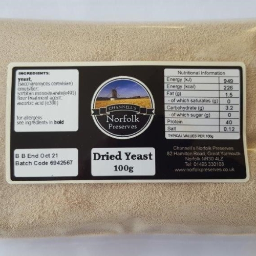Dried Yeast 100g