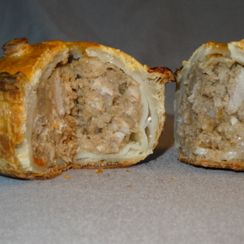 Pork Pie with Pickle