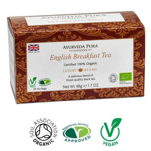 English Breakfast Tea - Organic Herbal Tea - Luxury Blend - 48g Box