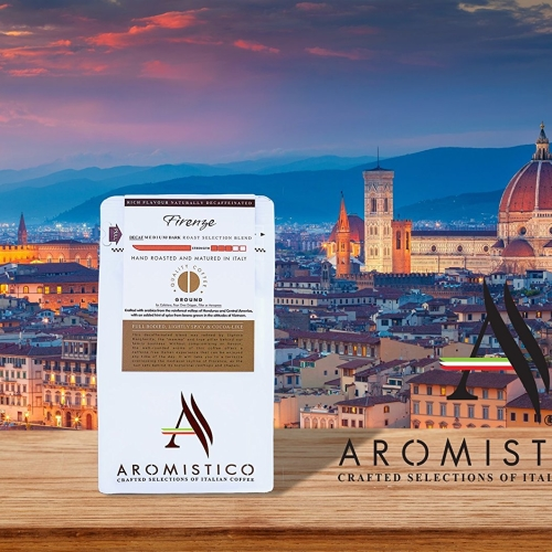 Premium Artisan Ground Coffee Hand Roasted Firenze Decaf Medium/Dark Roast Blend