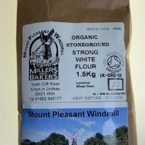 Mount Pleasant Windmill organic stone-ground strong white flour 1.5kg