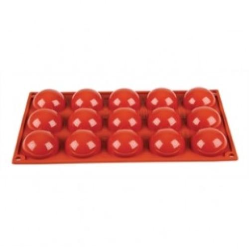 Silicone 15 Half Sphere Mould (17.4cm x 29.5cm)