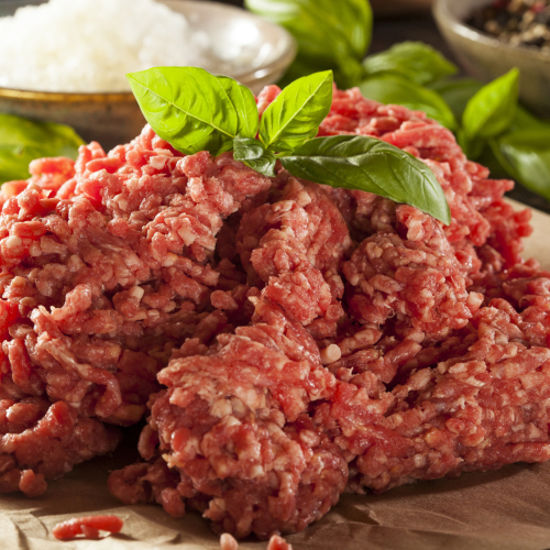 Minced grass-fed beef