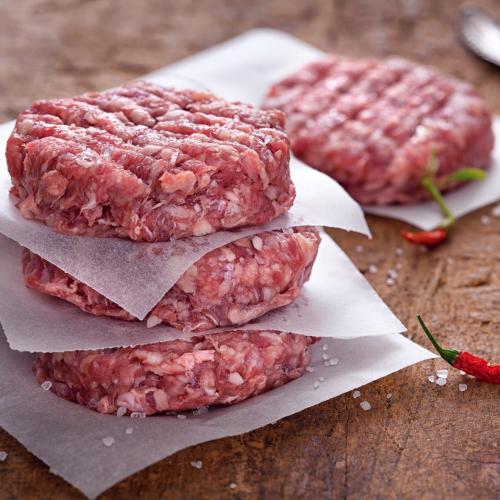 Grass-fed beef burgers
