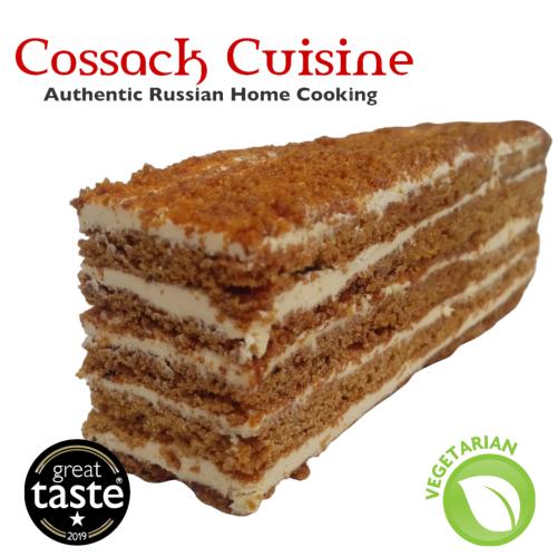 🍯 Russian Honey Cake slice (v)