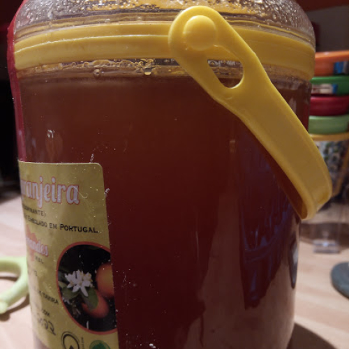 Portuguese  Orange Blossom Honey - from a single apiary, runny honey 1kg or 200g raw and unpasteurised