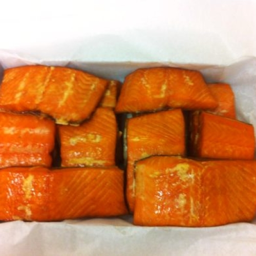 Hot Smoked Salmon Fillet Portion