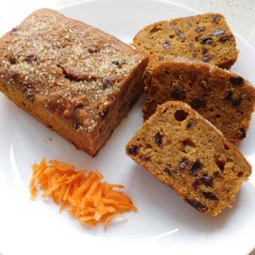 Gluten Free Carrot Loaf Cake